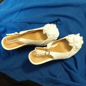 Chinese Laundry Shoes - CL Laundry Eyelet Sandals with flower